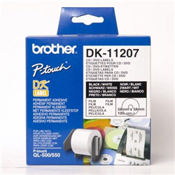 Brother DK-11207 'CD, DVD štítek' (58x58 mm, 100 ks, )